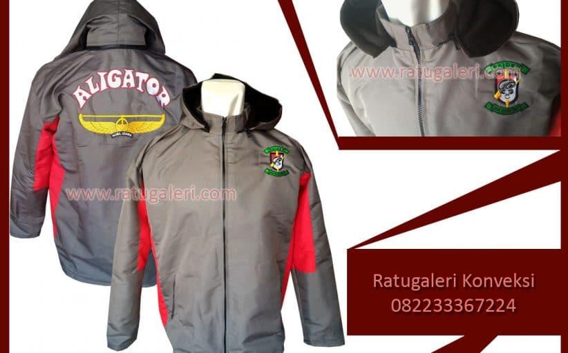 Hasil Produksi dan Desain Jaket Taslan, Aligator.