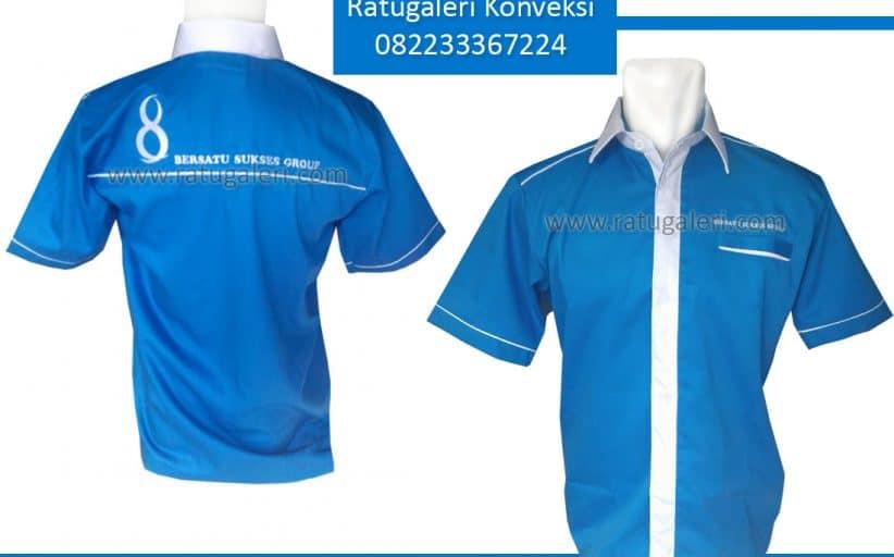 Hasil Produksi dan Desain Kemeja Drill, Perusahaan Bersatu Sukses Group.
