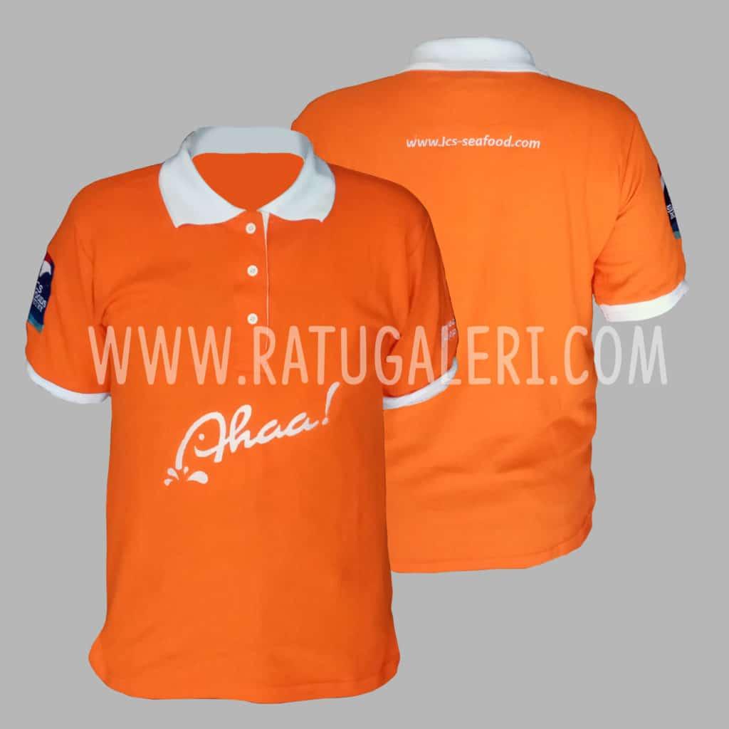Hasil Produksi Poloshirt Lacoste Aha Ics Seafood Orange