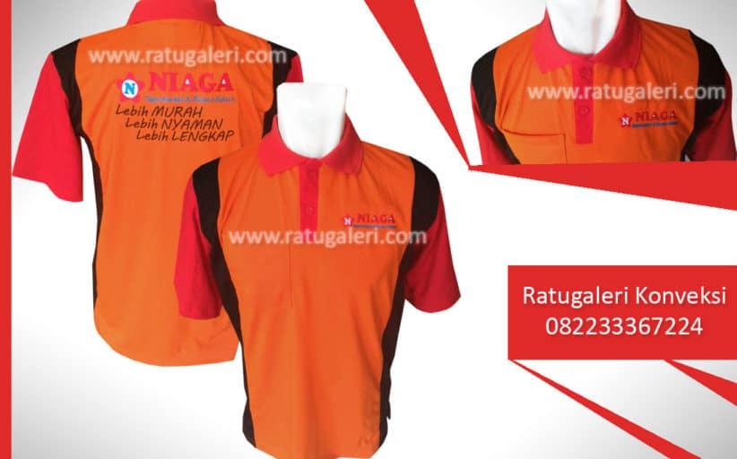 Hasil Produksi dan Desain Seragam Poloshirt, Niaga Supermarket.