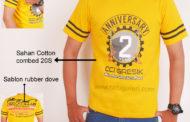 Hasil Produksi Dan Desain Kaos Cotton Combad Anniversary CBR Club Gresik