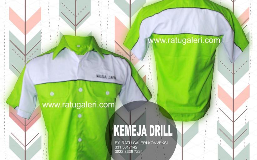 Contoh Desain Konveksi Kemeja Drill Nusa Jaya