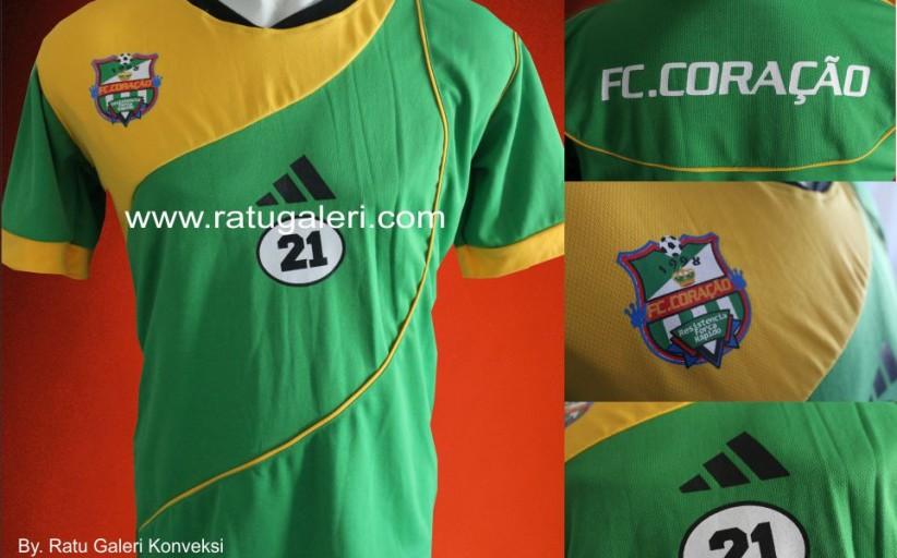 Contoh Desain Konveksi Jersey Bola Dryfit FC.CORACAO