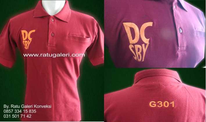 Contoh Desain Konveksi Kaos Polo Lacoste DC Surabaya