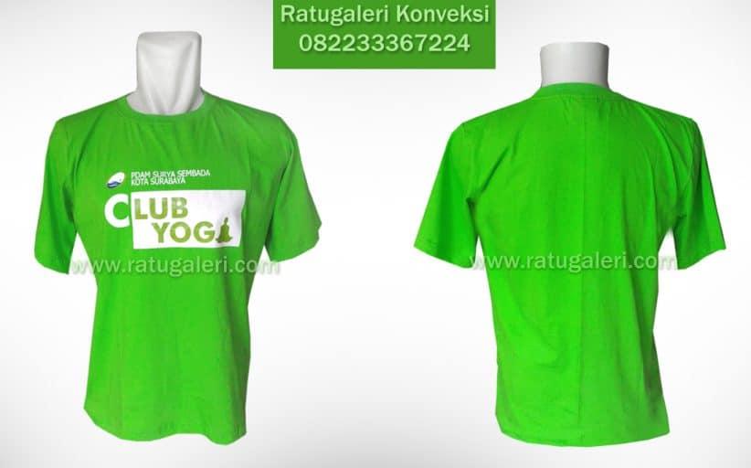 Hasil Produksi dan Desain Kaos Combed A 24's, Yoga club.