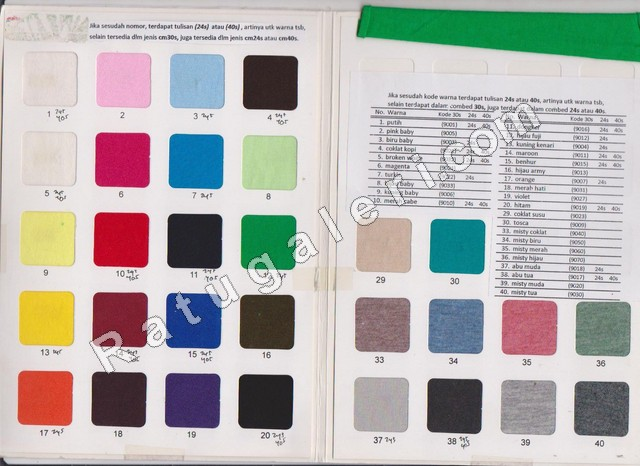 katalog kain cotton combed kaos