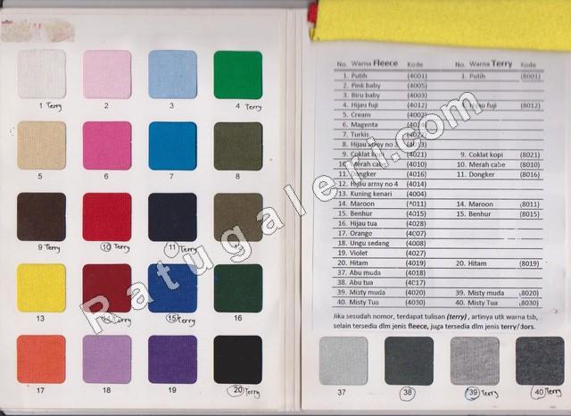 katalog kain fleece cotton jaket