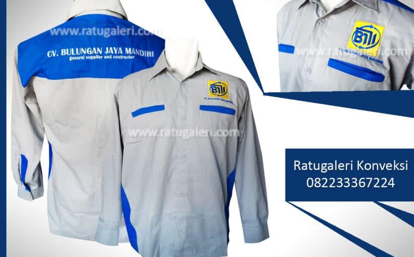 Hasil Produksi dan Desain Seragam Kemeja Kantor, CV.Bulungan Jaya Mandiri.
