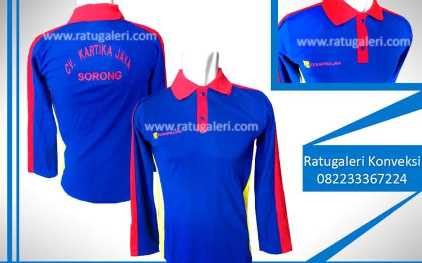 Hasil Produksi dan Desain Poloshirt, CV.Kartika Jaya.