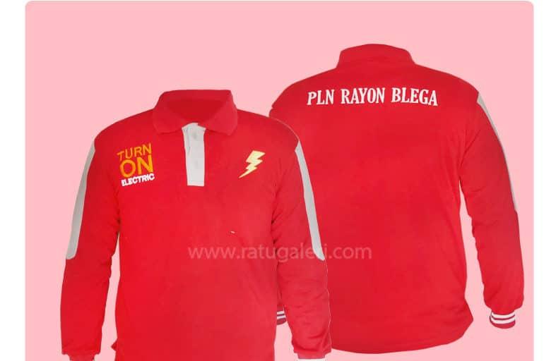 Hasil Produksi Dan Desain PoloShirt Semi Cotton PLN Rayon Blega