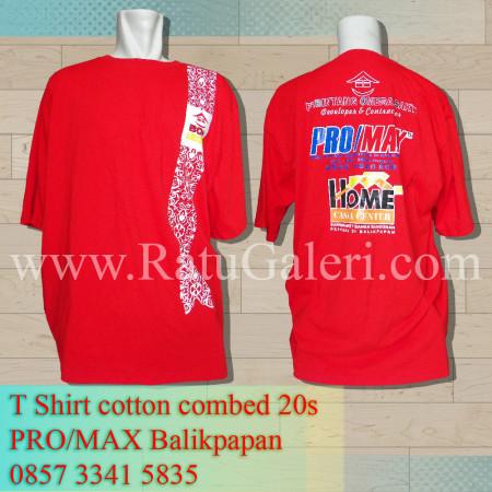 t shirt cotton combed promax balikpapan