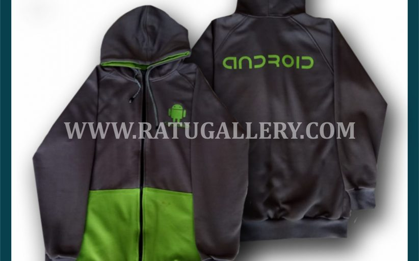 Hasil Produksi Jaket Android Dengan Bahan Fleece PE