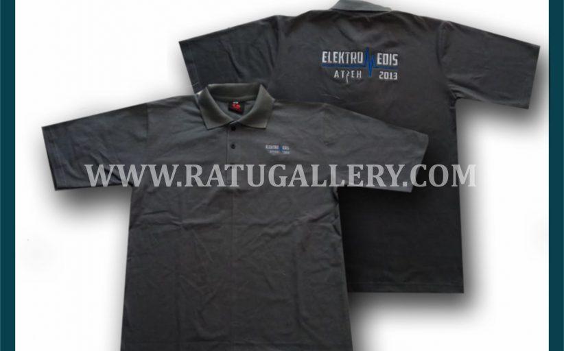 Hasil Produksi Kaos Polo Elektromedis Dengan Bahan Lacoste Cotton.