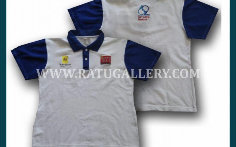 Hasil Produksi Kaos Polo PT. PLN Persero Dengan Bahan Lacoste Cotton