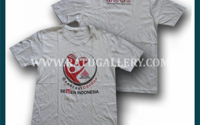 Hasil Produksi Kaos Oblong Semen Gresik Indonesia Dengan Bahan Combed 24's
