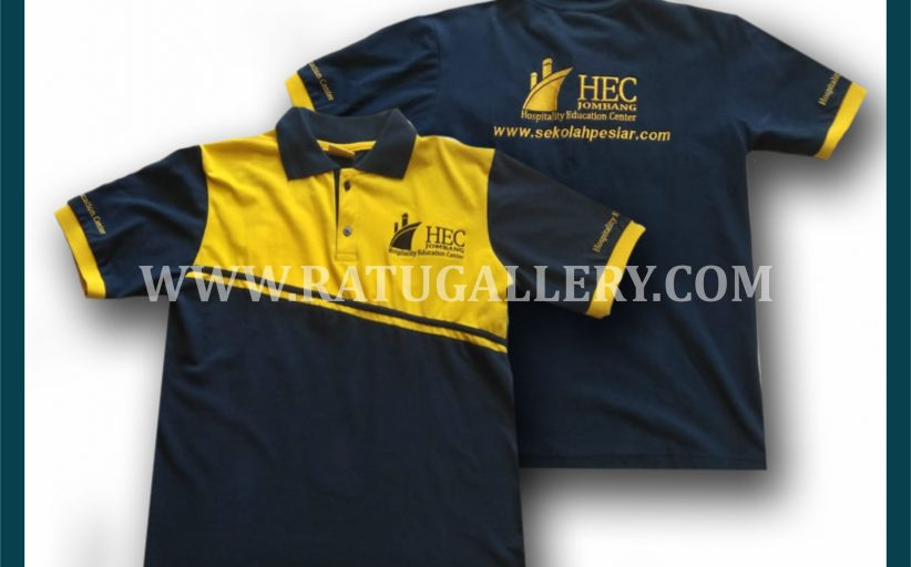 Hasil Produksi Kaos Polo Hospitalicy Education Center Dengan Bahan Lacoste Cotton