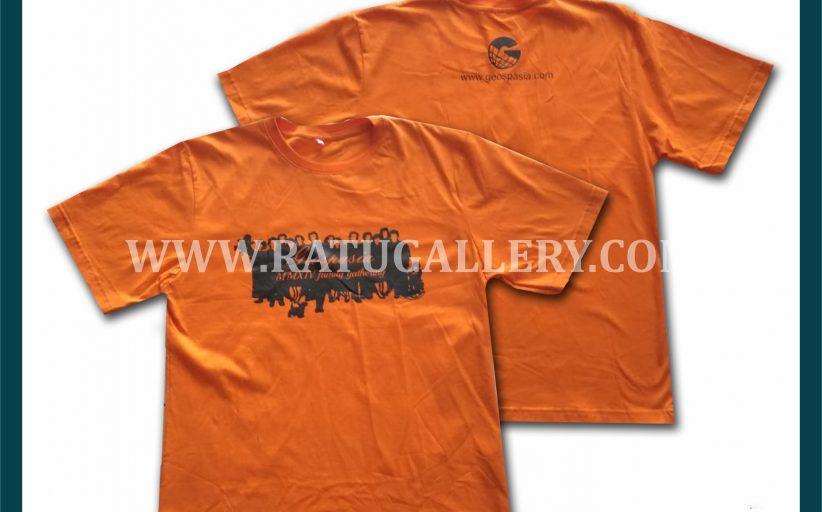 Hasil Produksi Kaos Oblong Geospasia Family Gathering Dengan Bahan Combed 30's