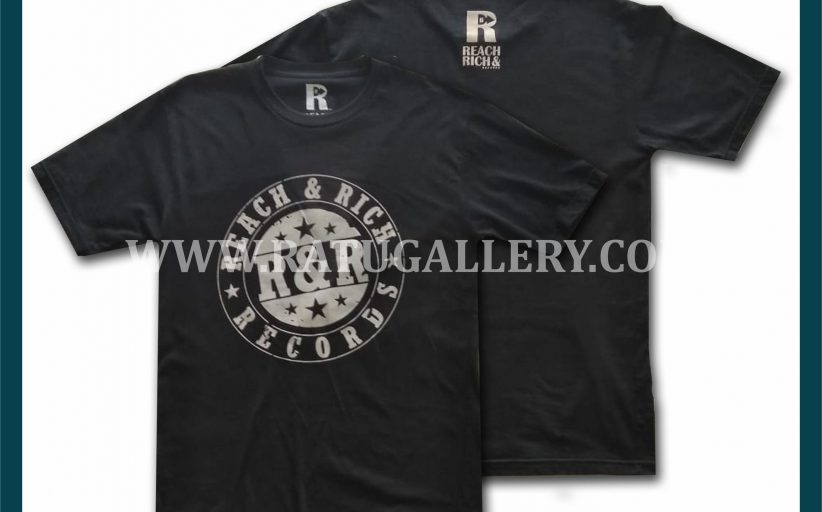 Hasil Produksi Kaos Oblong Record Reach Rich Dengan Bahan Combed 24's