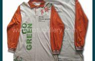 Hasil Produksi Kaos Polo Go Green Dengan Bahan Doble Knitt Katun.