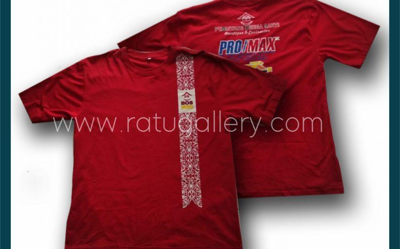 Hasil Produksi Kaos Oblong PT. Bintang Omega Sakti Dengan Bahan Dengan Combed 24's