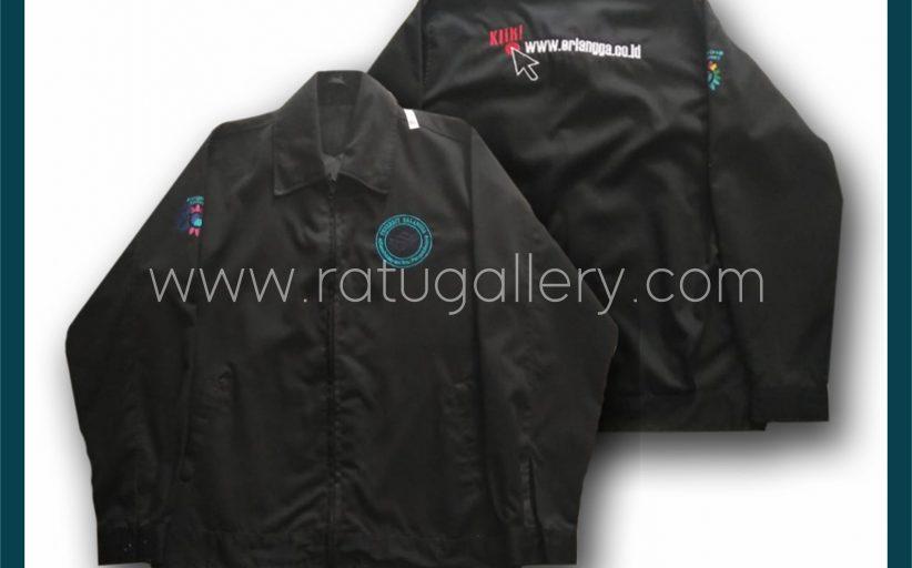 Hasil Produksi Jaket Airlangga Group Aniversarry Dengan Bahan Micro.