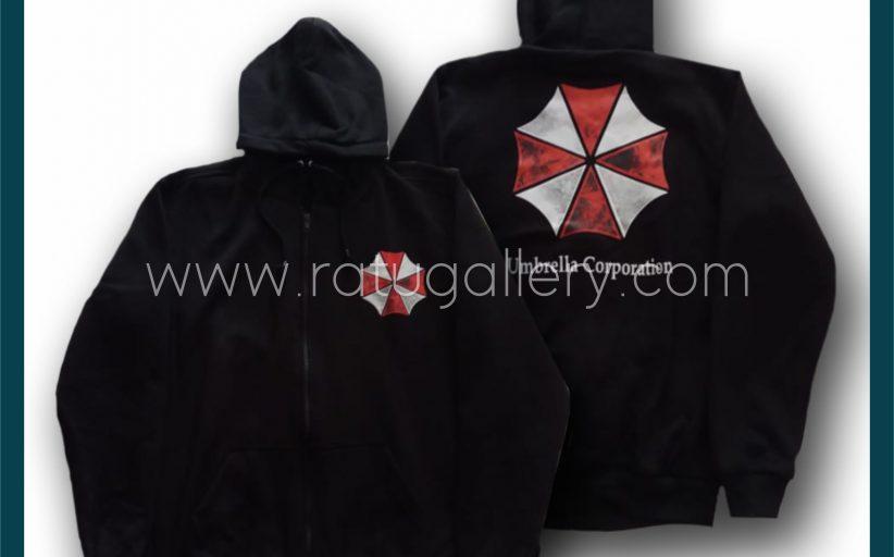 Hasil Produksi  Jaket Umbrella Corporatian Dengan Bahan Fleece Pe