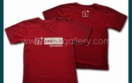 Hasil Produksi Kaos Oblong ONE PLUS INDONESIA Dengan Bahan Cotton Combed 24's