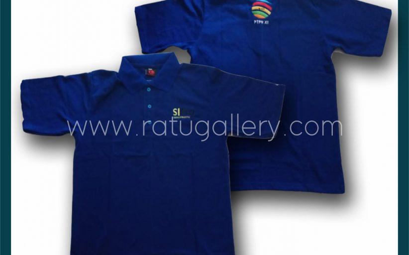 Hasil Produksi Kaos Polo SI PRO PTPN Dengan Bahan Lacoste Cotton.