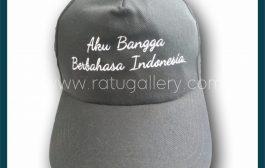 Hasil Produksi Topi Aku Bangga Berbahasa Indonesia Dengan Bahan Rafel Daimaru