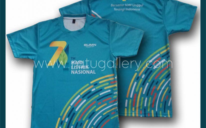 Hasil Produksi Kaos Jersey PLN Dengan Bahan Drifit