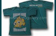 Hasil Produksi Kaos Oblong Bocah Netral Dengan Bahan Combed 30's