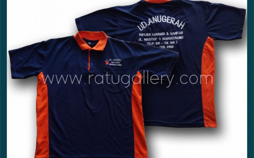 Hasil Produksi Kaos Polo UD. ANUGERAH Dengan Bahan Lacoste Cotton.