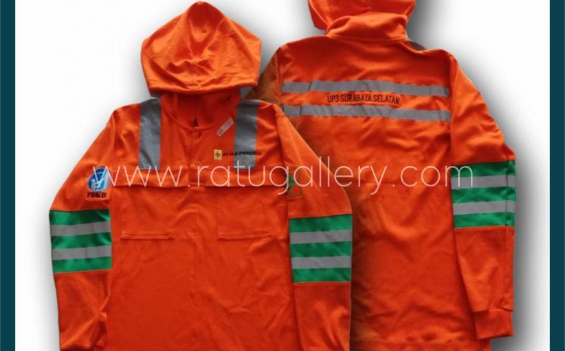 Hasil Produksi Kaos Polo PT.PLN (PERSERO) Dengan Bahan Double Knitt Cotton.