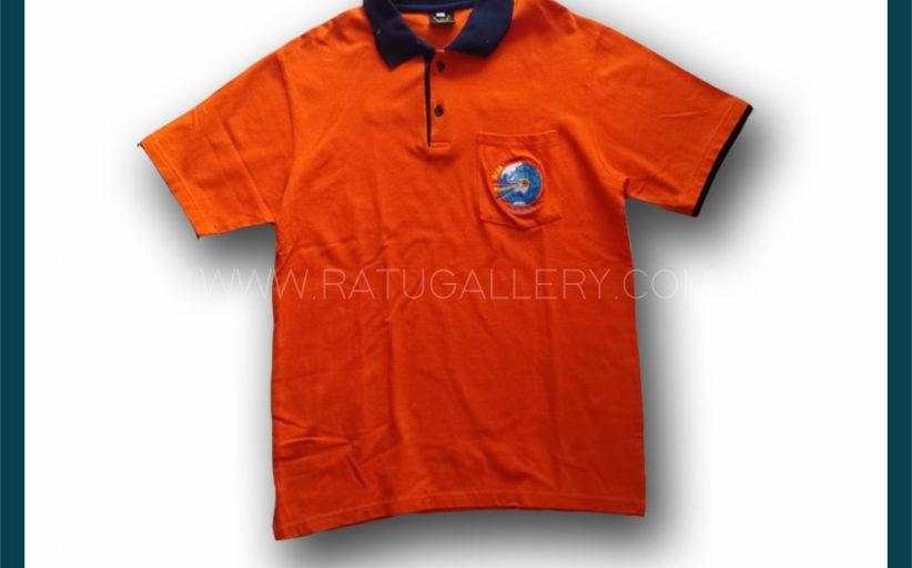 Hasil Produksi Kaos Polo PT. PLN Distribusi Jawa Timur Seragam Kerja Dengan Bahan Lacoste Cotton