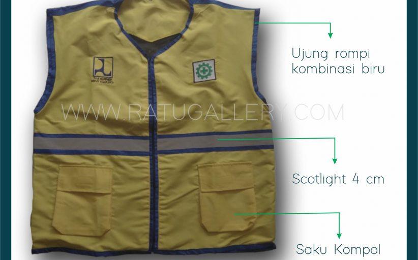 Hasil Produksi Rompi Kerja/Rider Tim Survey BBPJN Jakarta Dengan Bahan GoreTex