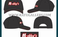 Hasil Produksi Topi Drill M-okky's Dengan Bahan Drill