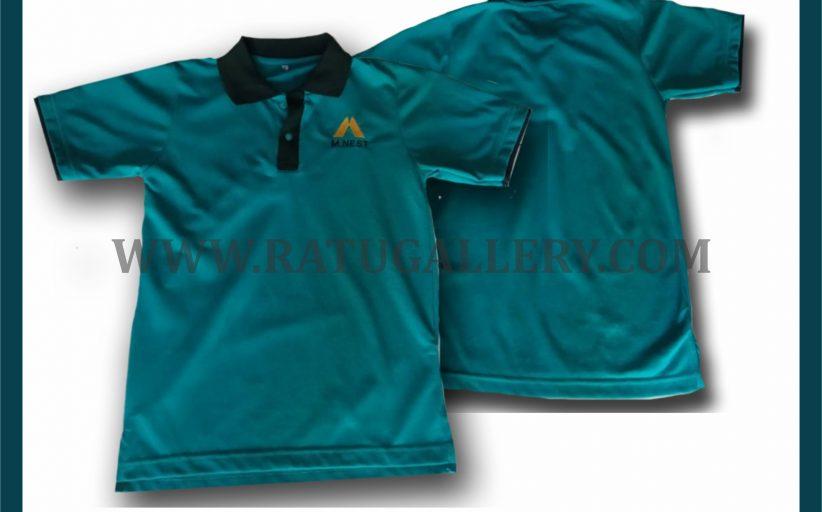 Hasil Produksi Kaos Polo M_NEST Dengan Bahan Lacoste