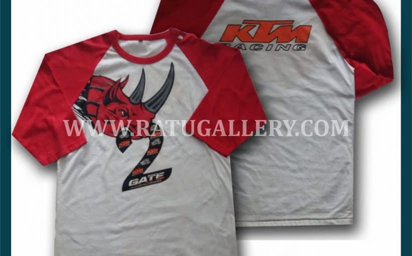 Hasil Produksi Kaos KTM Racing Dengan Bahan Combed 24's