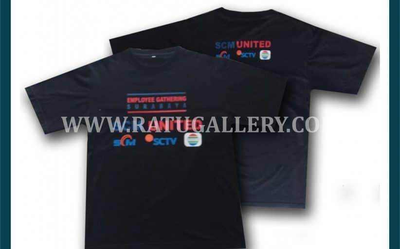 Hasil Produksi Kaos SCM United Dengan Bahan combed 24's