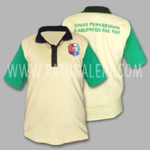 Hasil Produksi Dan Desain Poloshirt Dinas Perkebunan Kabupaten Fak Fak