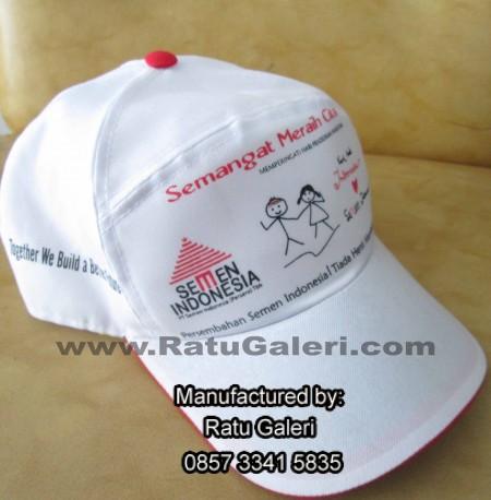 Topi Semen Indonesia (Kombinasi Sablon Rubber & Bordir Komputer)