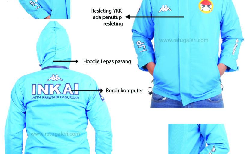 Hasil Desain Dan Produksi Jaket Taslan Milky 'INKAI'