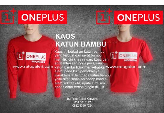 Contoh Desain Konveksi Kaos Katun Bambu One Plus