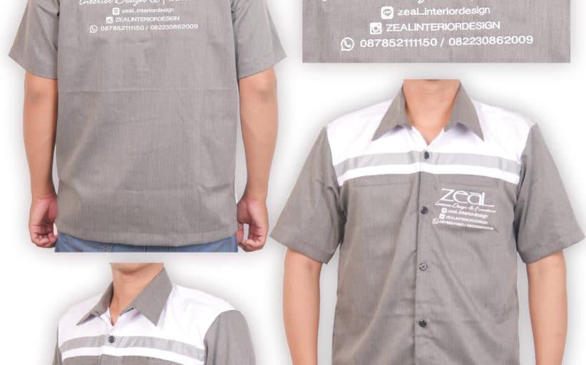 Hasil Produksi Dan Desain Kemeja Nagata Drill Zeal