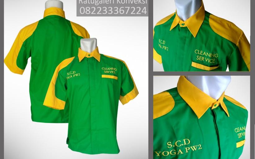 Hasil Produksi Dan Desain Seragam Cleaning Service Unione Drill, S.C.D