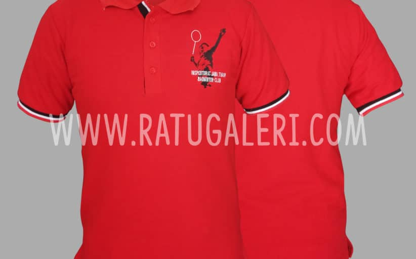 Hasil Produksi Dan Desain PoloShirt Lacoste Cotton Pique Badminton Inspektorat Jawa Timur