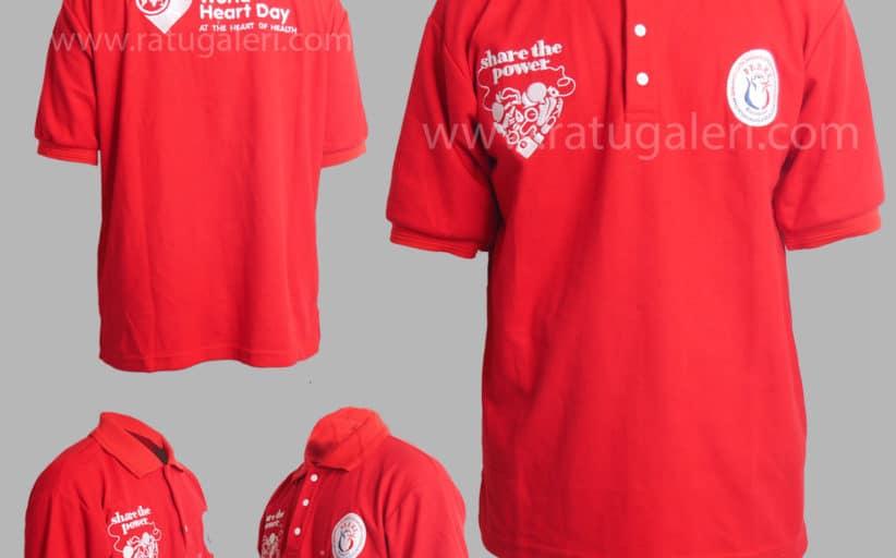 Hasil Produksi dan Desain Poloshirt Lacoste World Heart Day