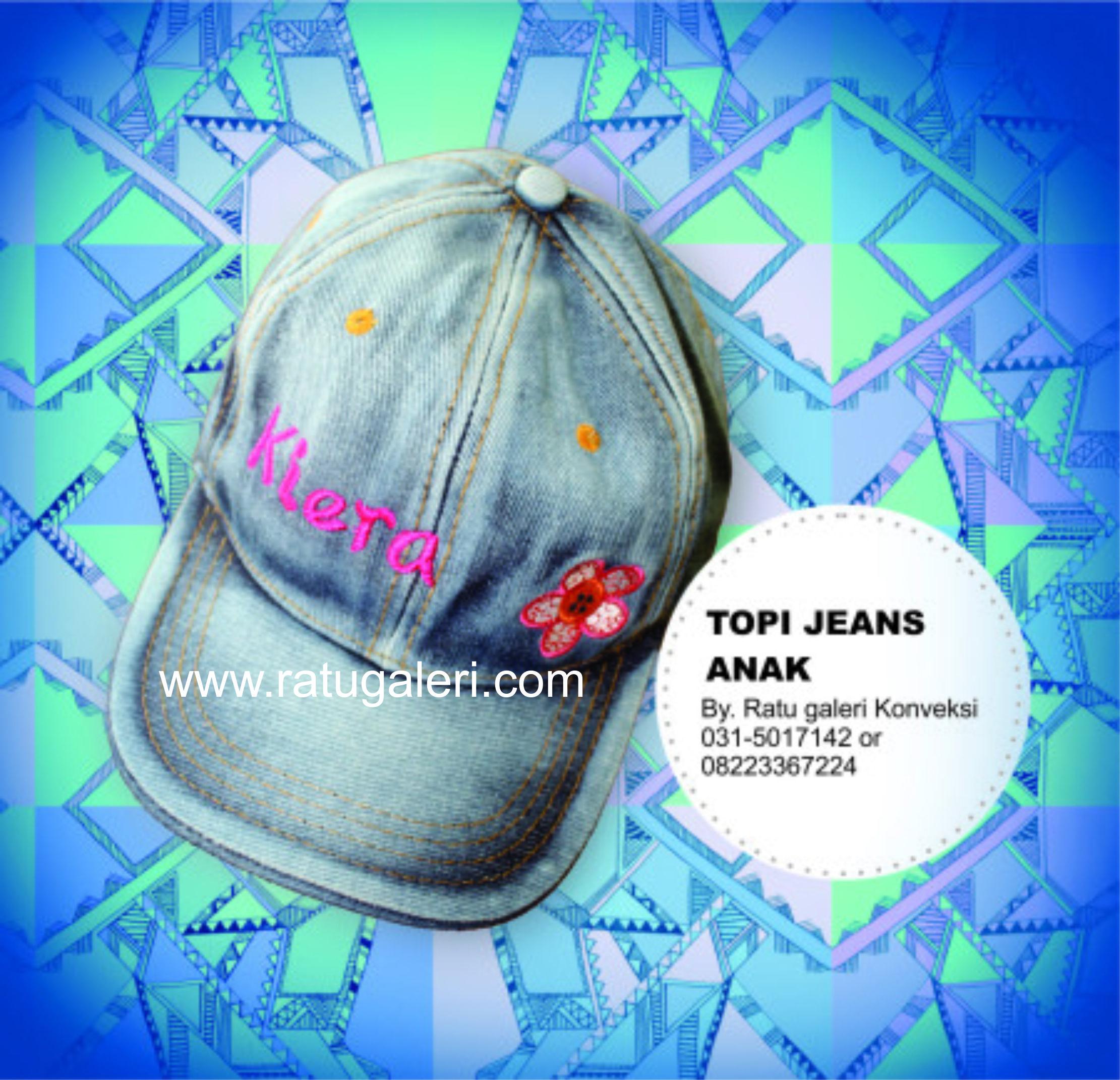 Contoh Desain Topi Jeans Anak