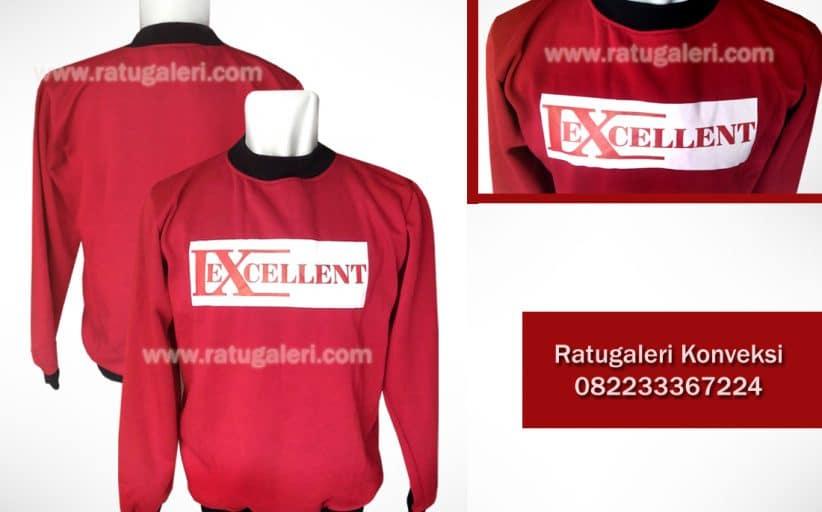 Hasil Produksi dan Desain Jaket model sweater Fleece, Exellent.