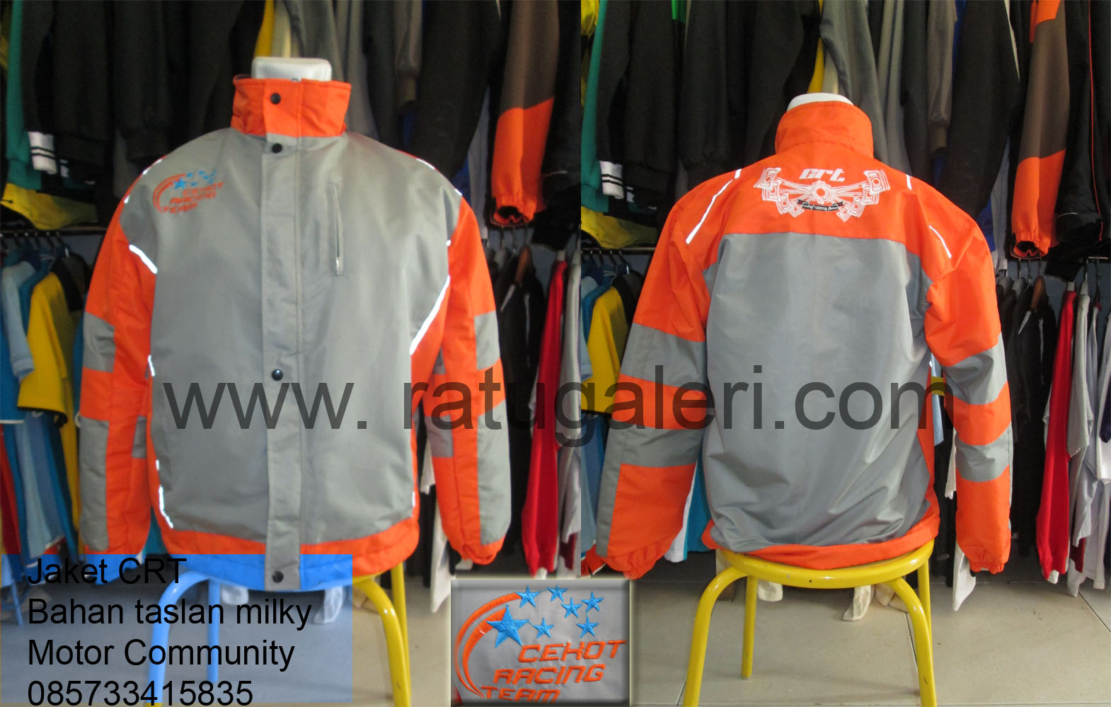 Jaket Waterproof Komunitas Motor CRT